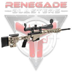JY (Swift Hawk) Remington MSR Bolt-Action Sniper Gel Blaster (Tan) Renegade Blasters