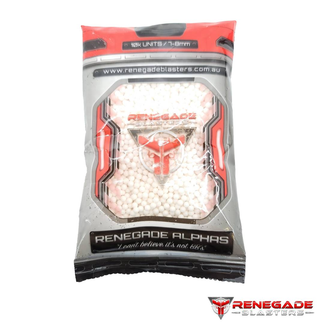 Renegade Alpha's 7-8mm HARDEST Frosted Gel Ball Ammo (10,000 Pack) Renegade Blasters