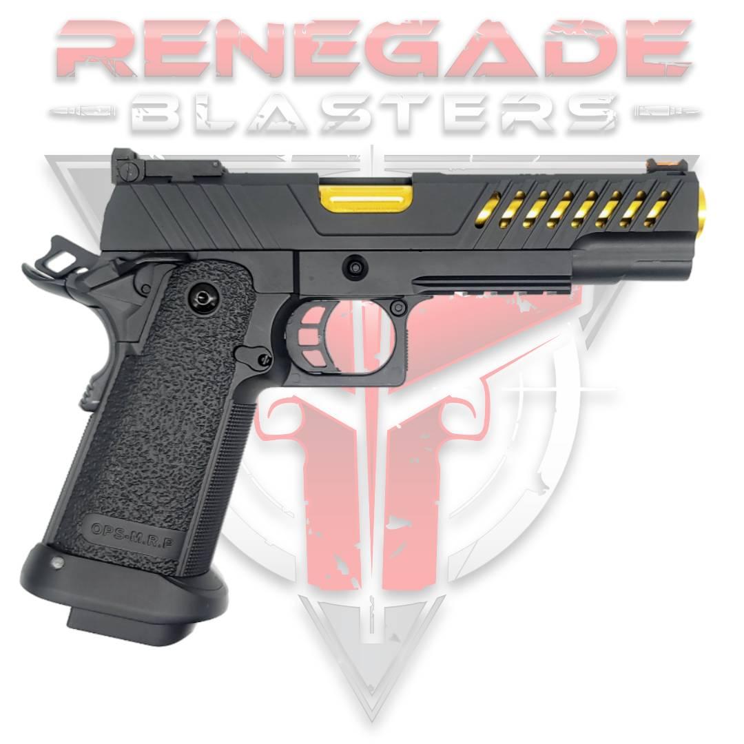 Golden Eagle 3338 GMX-2 OPS CNC Metal Gas Powered Gel Blaster Hi-Capa 5.1