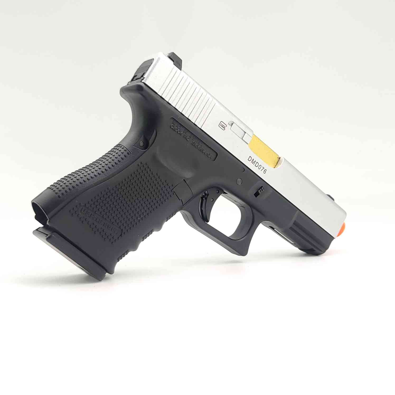DOUBLE BELL Glock G19 GEN4 Gas Powered Gel Blaster SILVER [772D] Renegade Blasters
