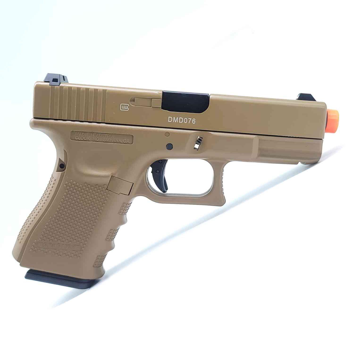 DOUBLE BELL Glock G19 GEN4 Gas Powered Gel Blaster TAN [772S] Renegade Blasters
