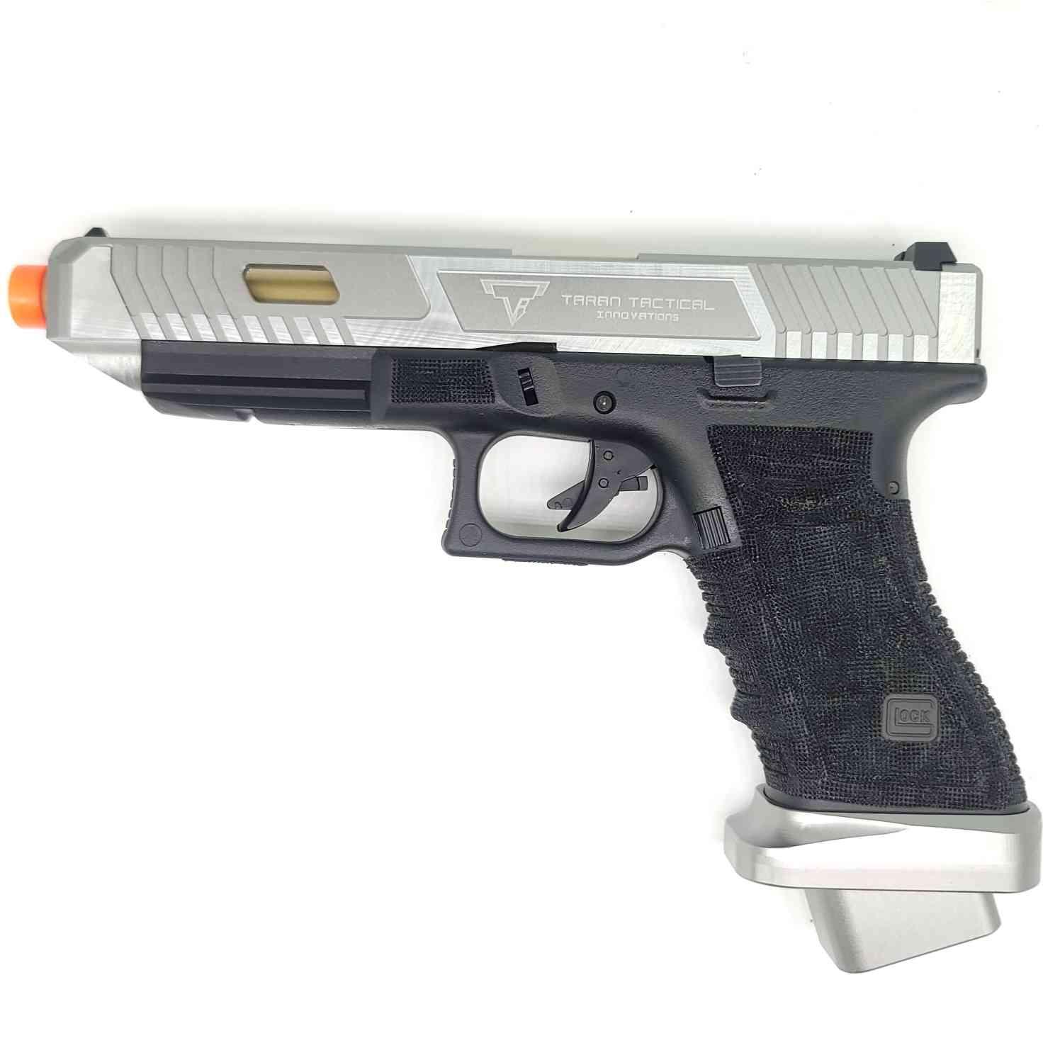 DOUBLE BELL Glock G34 TTI John Wick 2 Combat Master Custom Gas Powered Gel Blaster BILLET ALLOY SLIDE [768L]