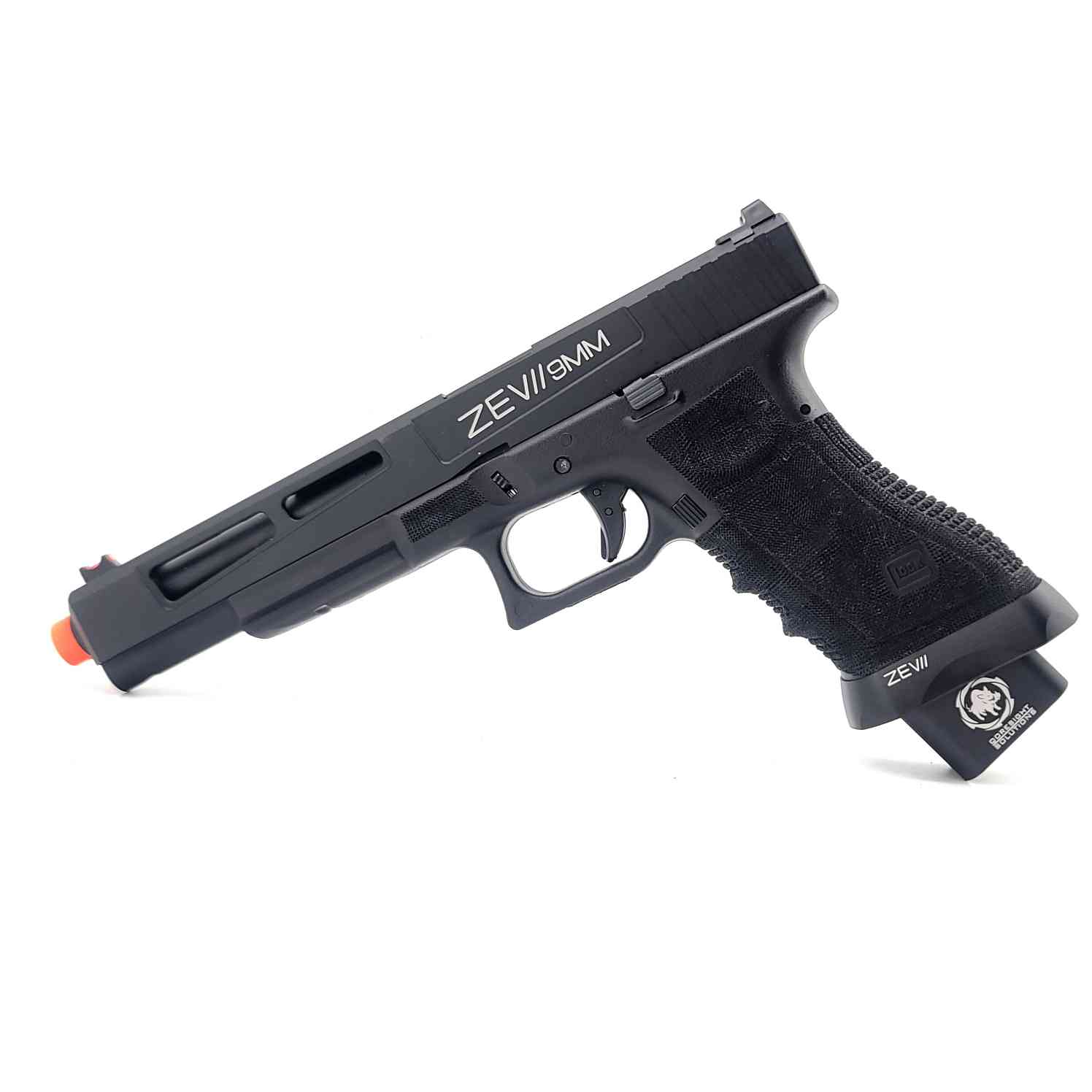 DOUBLE BELL Glock G17L ZEV II 9mm Combat Master Custom Gas Powered Gel Blaster [762]