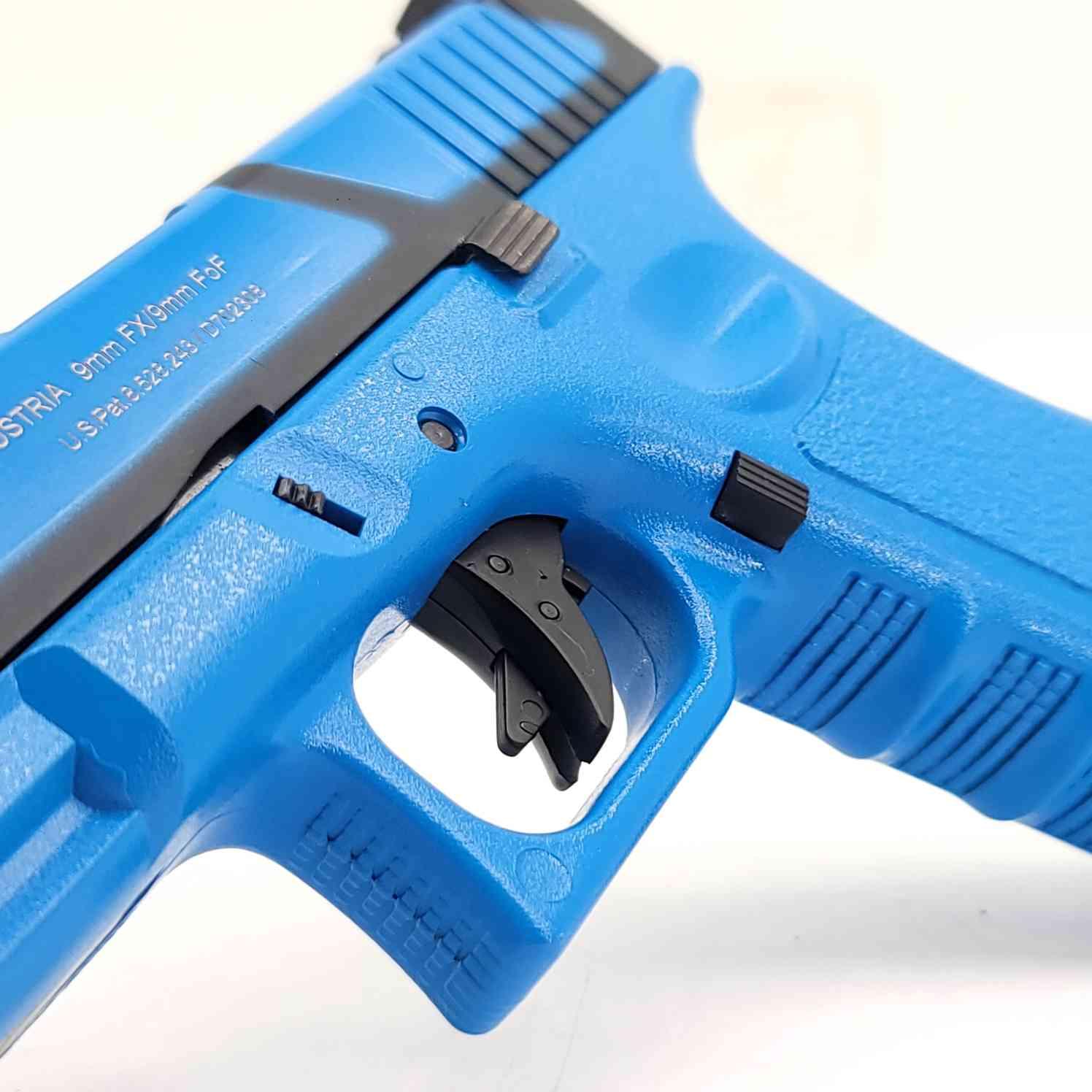 DOUBLE BELL Glock G17T SpeedQB Gas Powered Gel Blaster BLUE [721-1] Renegade Blasters