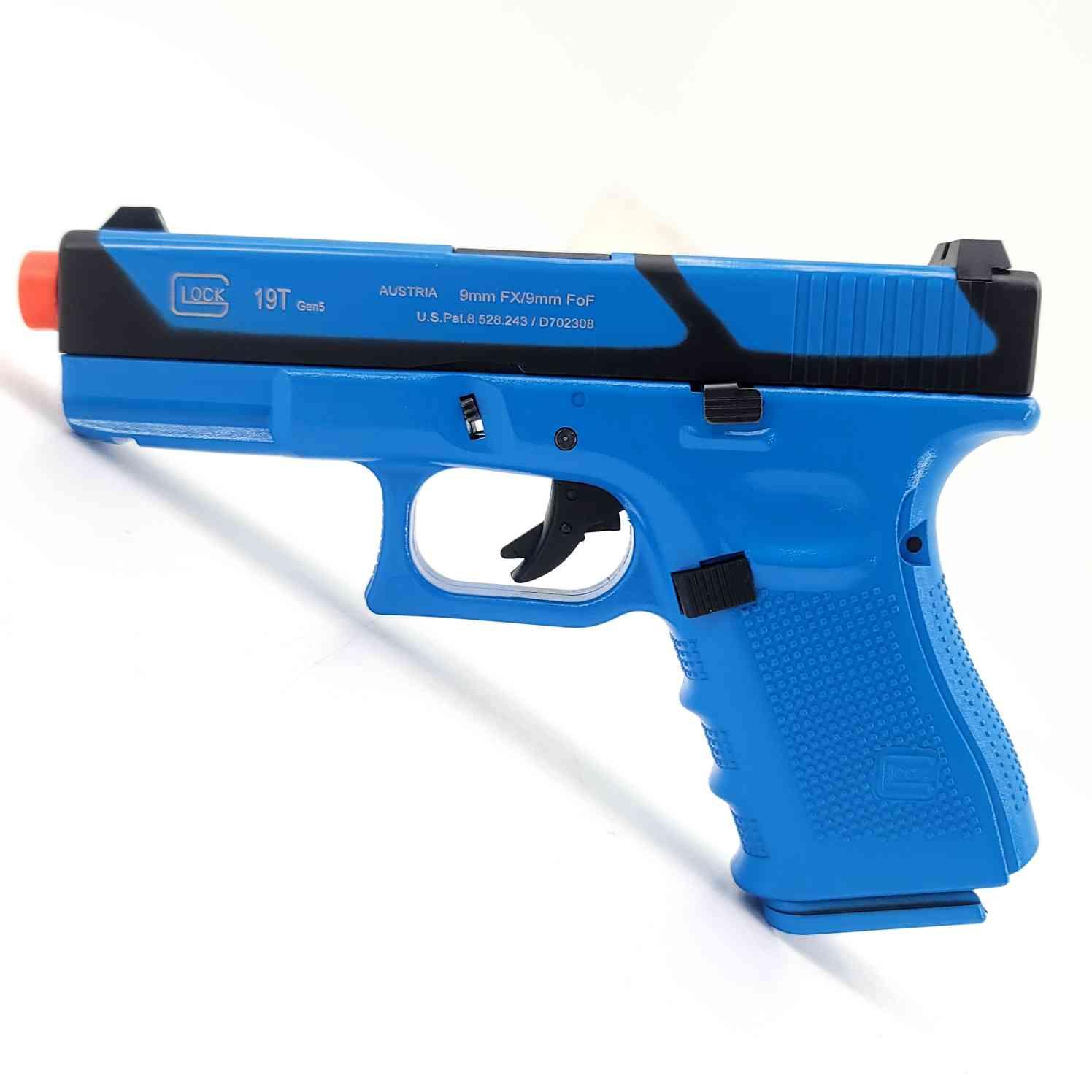DOUBLE BELL Glock G19T Gen4 SpeedQB Gas Powered Gel Blaster BLUE [772-1]