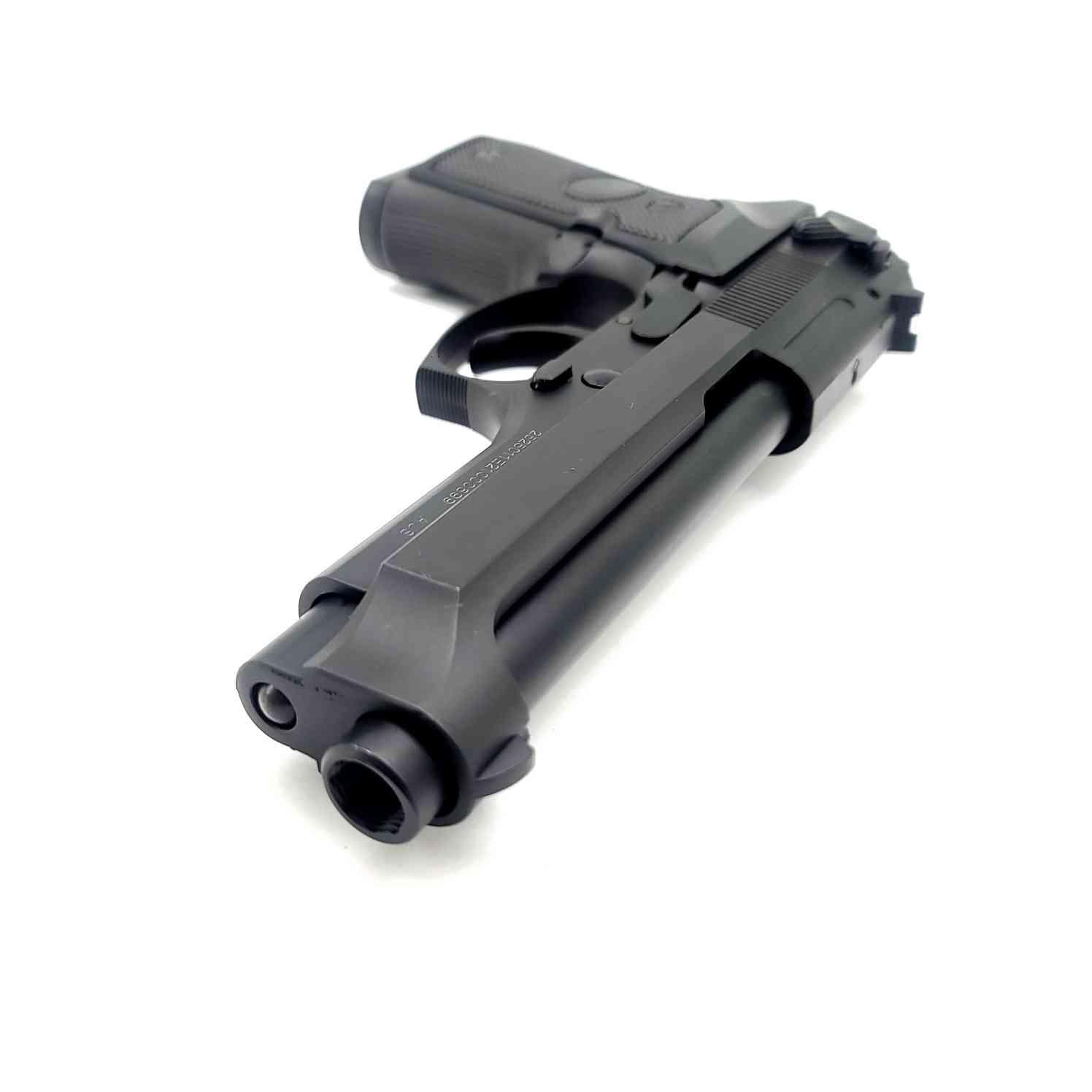 NWELL Beretta M92 Metal Gas Gel Blaster [PLAIN BLACK] Renegade Blasters
