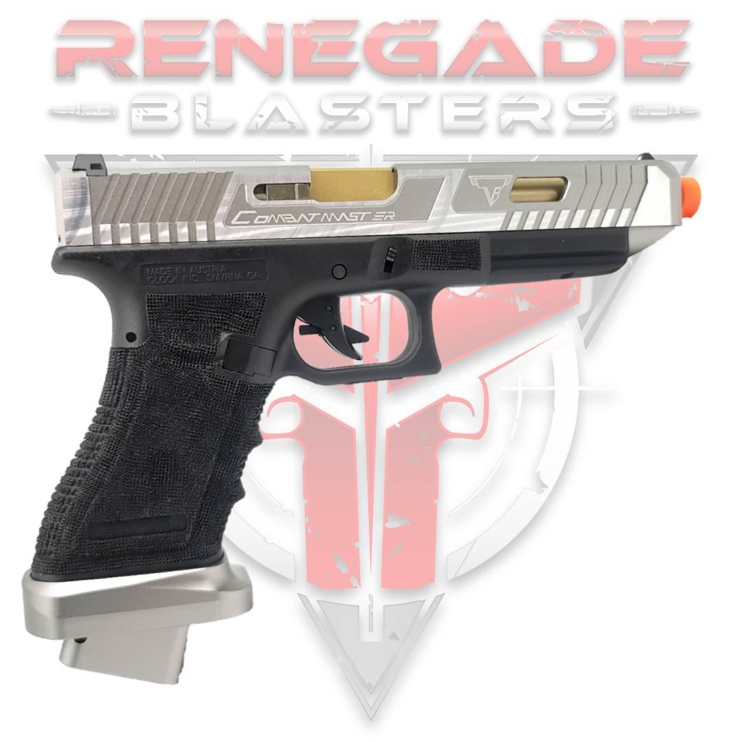 DOUBLE BELL Glock G34 TTI John Wick 2 Combat Master Custom Gas Powered Gel Blaster BILLET ALLOY SLIDE [768L] Renegade Blasters