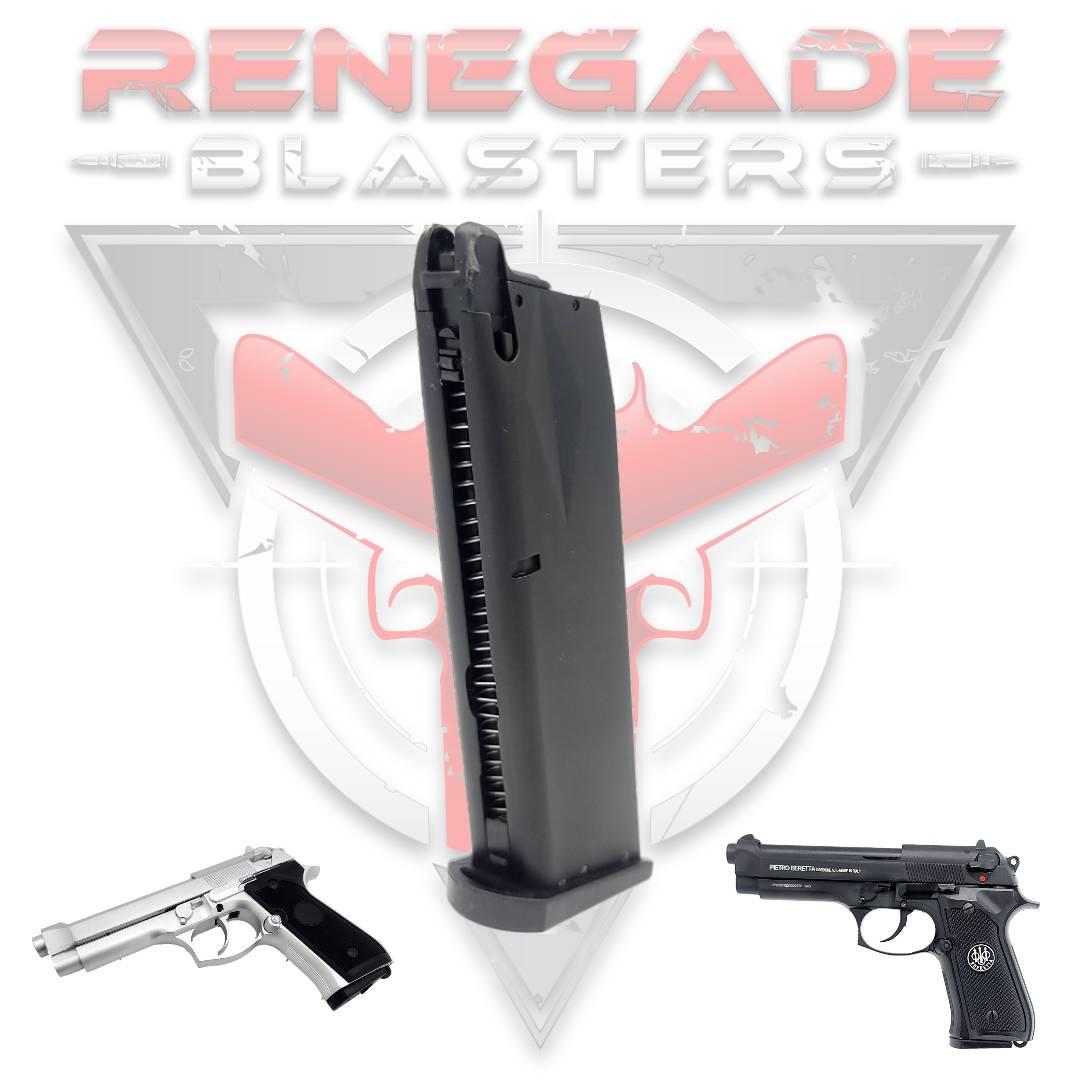 Magazine for NWELL Beretta M92 Gel Blaster (Green Gas Type) Renegade Blasters