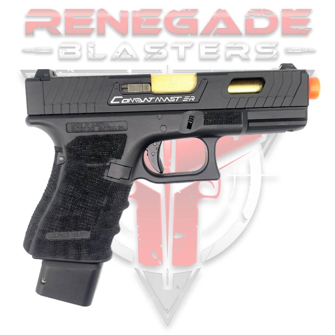 DOUBLE BELL Glock G19 TTI John Wick 2 Combat Master Custom Gas Powered Gel Blaster [772G] Renegade Blasters