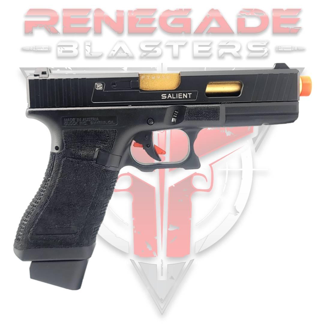 DOUBLE BELL Glock G17 SAI Custom Gas Powered Gel Blaster [773] Renegade Blasters